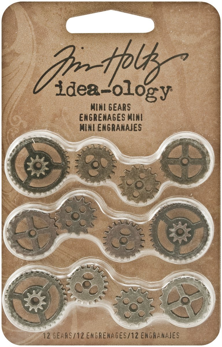 Advantus - Tim Holtz - Idea-Ology Collection - Mini Gears (6 Pack)