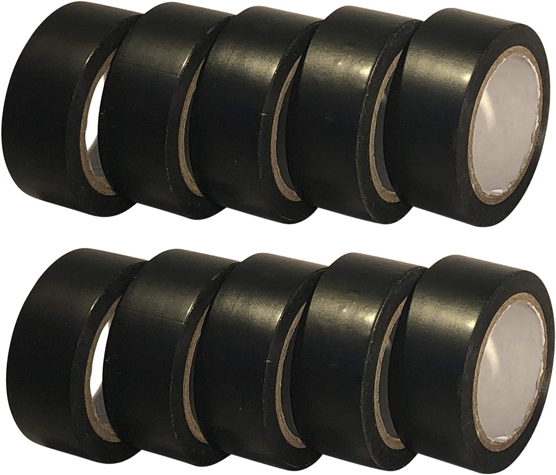 3X noir pvc isolation électrique ruban isolant ignifuge
