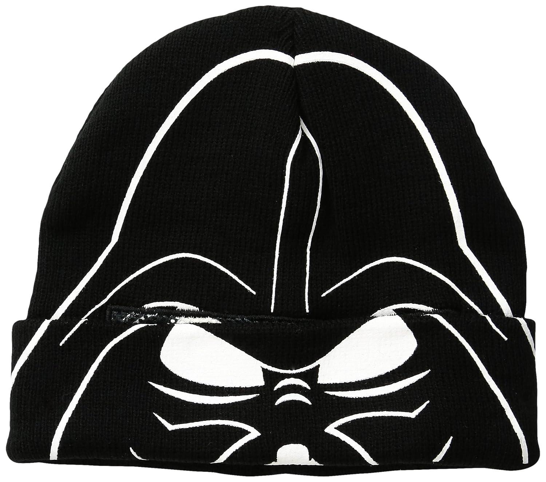 Star Wars Little Boys' Vader Flip-Down Flocked Hat, Black, One Size ECSW3103AZ-001