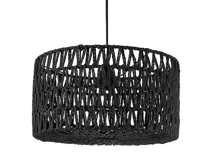 Leitmotiv® - Lámpara de techo, papel, color negro: Amazon.es ...