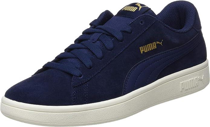 Puma Smash V2 Sneakers Unisex Damen Herren Blau Peacoat/Weiß