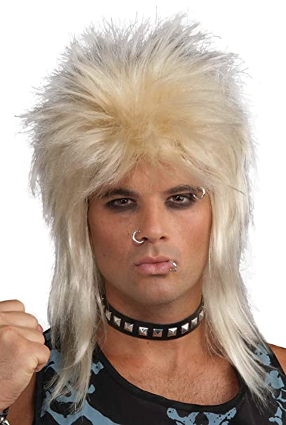 Amazon.com: Forum Novelties s 80 s Rock Star peluca: Clothing