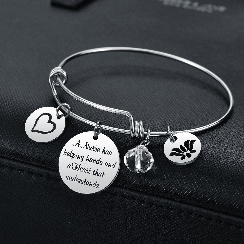 Nurse Practitioner Gifts Nursing Assistant Bracelet Nurse Appreciation Gifts for Nurse Graduation Birthday Retirement