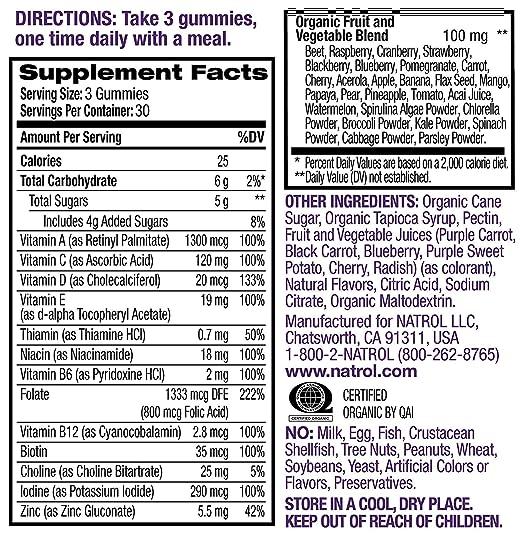 Natrol Prenatal Multivitamin Gummy, 90 Count Pack of 2 ...