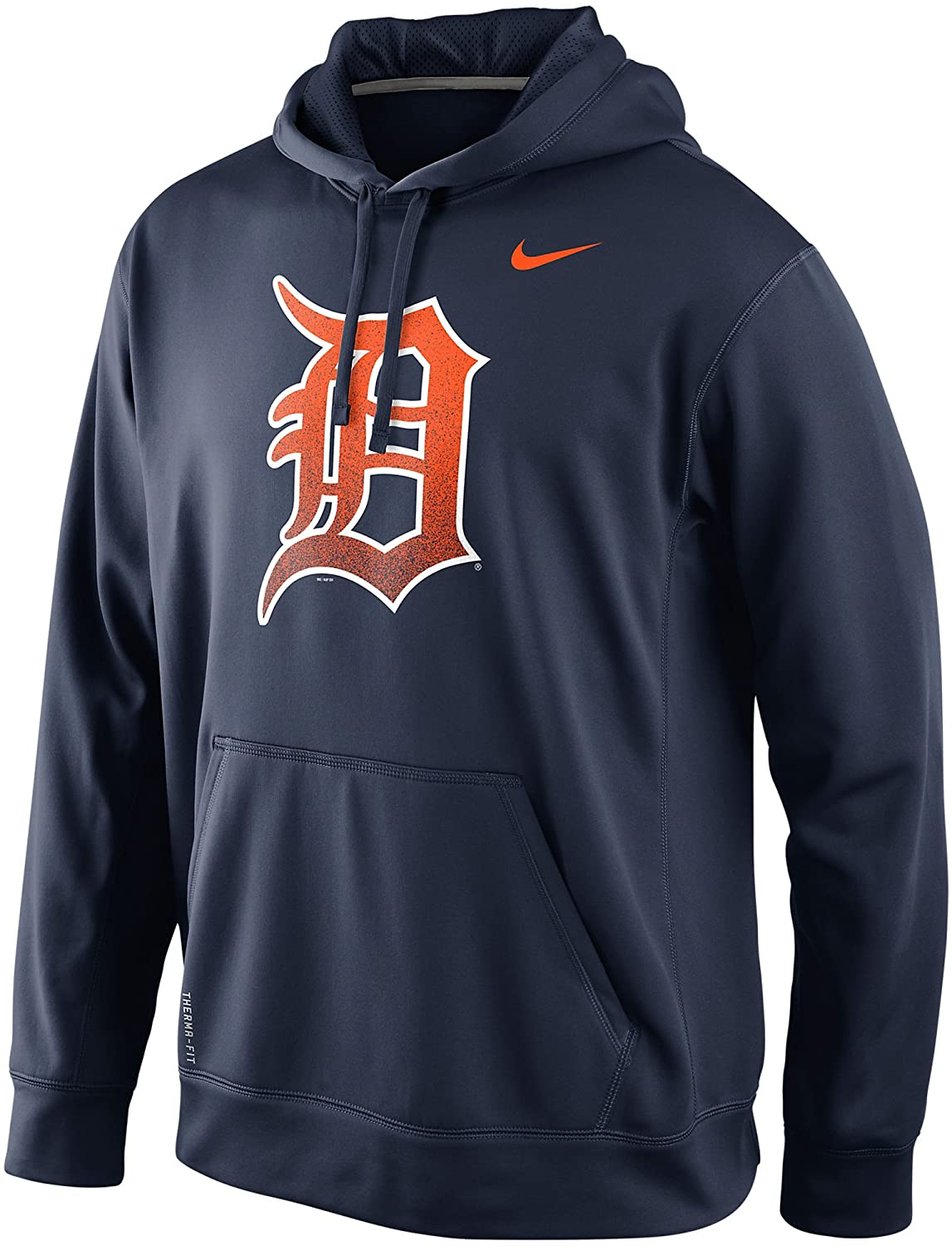 finest selection d7fb2 9f688 Amazon.com  Nike Detroit Tigers Men s MLB Mezzo Logo Performance Therma-FIT  Pullover Hoodie (Medium, Navy Blue)  Clothing