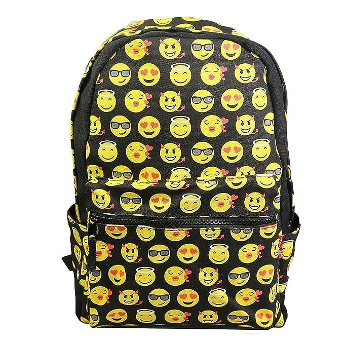664078f3d0 Katomi New QQ stampa Emoji zaino tela viaggi Satchel cute Gril zaino per la  scuola,