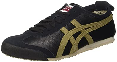 separation shoes 7fa2c 35df9 Amazon.com | Onitsuka Tiger Mexico 66 Mens Sneakers Black ...