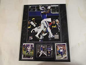STEFON DIGGS MINNESOTA VIKINGS MIRACLE CATCH PHOTO PLUS 3 CARDS (1 CATCH PHOTO CARD) MOUNTED ON A 12' X 15' BLACK MARBLE PLAQUE
