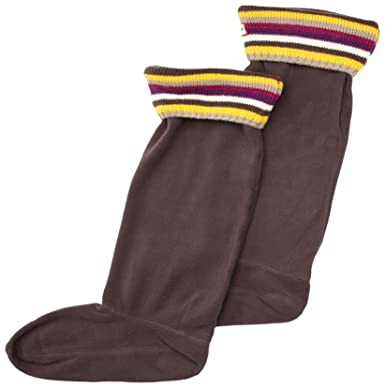 Hunter Striped Cuff Welly Socks Women's Socks Multi Heather X ...