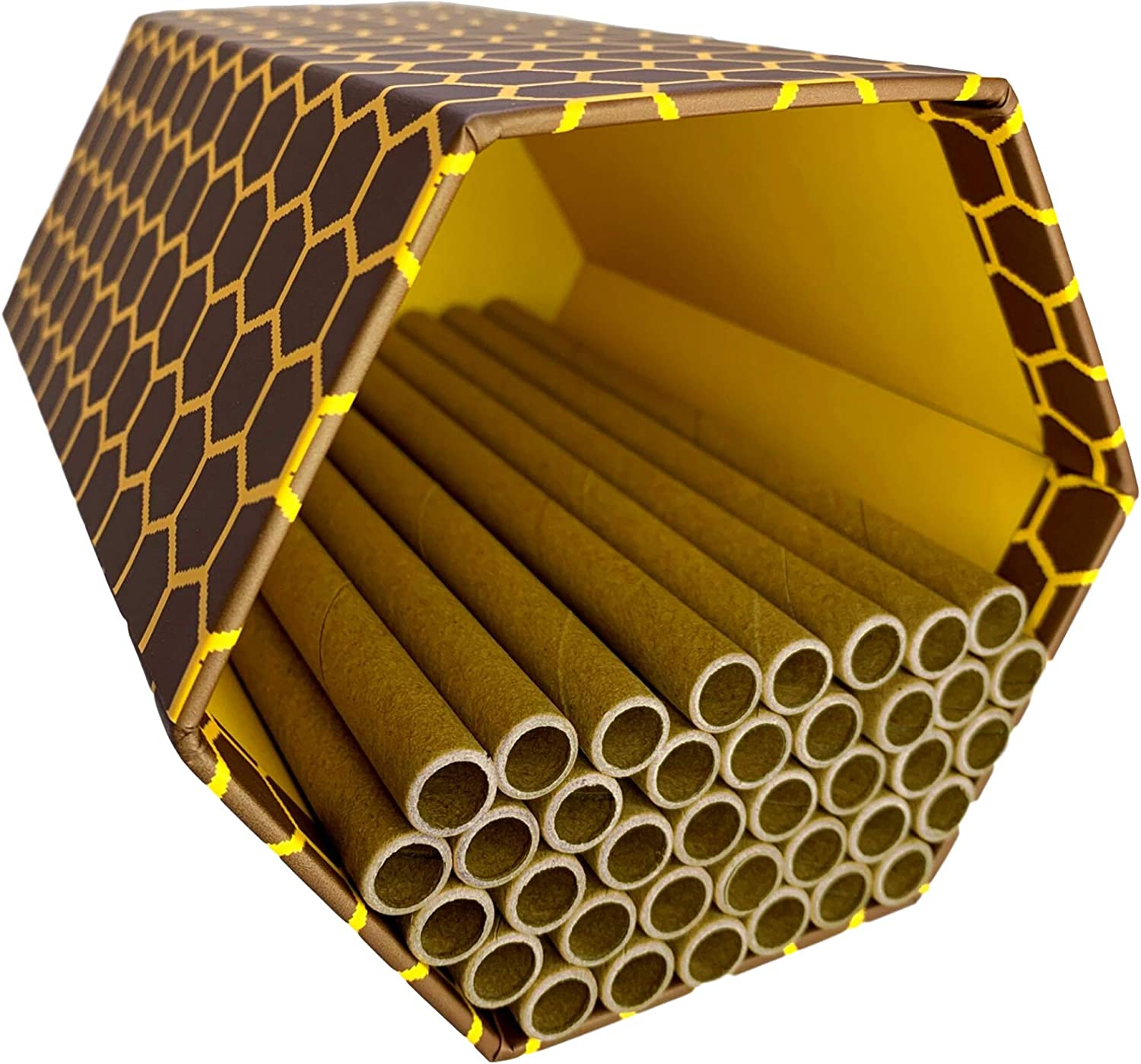 Mason Bee House | Solitary Bees Home for Your Garden | Perfect Starter Kit Combined with Our Tubes to Create a Bee Hive, Nest, Hotel, or Box | for Mason Bees & Leafcutter Bees | Not for Honey Bees