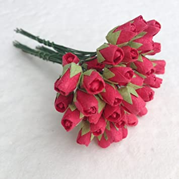 Amazon 100 Mini Red Rose Bud Mulberry Paper Flowers Wedding