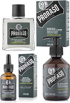 Proraso – Pack Tratamiento barba: aceite, champú (para la barba ...