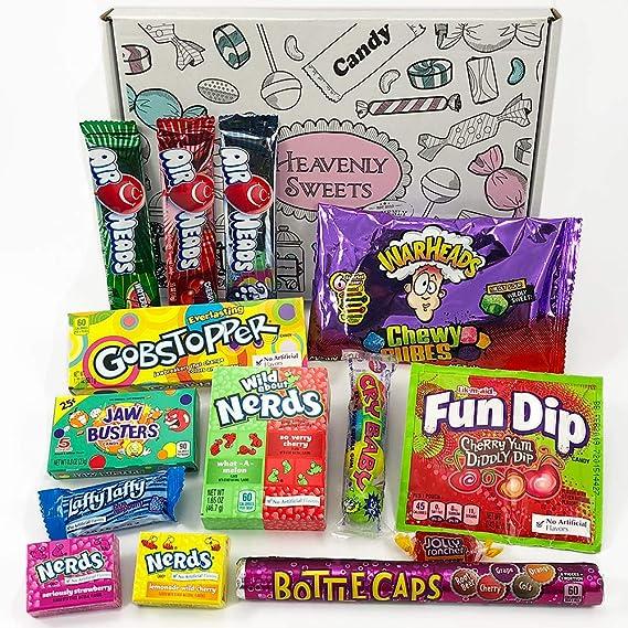 Caja de dulces veganos americanos | Golosinas y barra de caramelos de selección en caja regalo