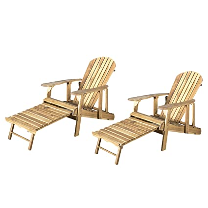 Amazon.com: Halley Adirondack silla reclinable de madera con ...