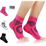Featol Plantar Fasciitis Socks with Arch Support Ankle Support for Men and Women, Ankle Compression Socks Foot Sleeve to Relieve Arch Pain, Better than Night Splint