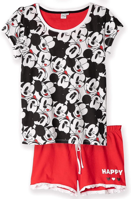 100/% cotone a maniche corte S-XL Disney Original Sleepwear Topolino Minnie Pigiama da donna