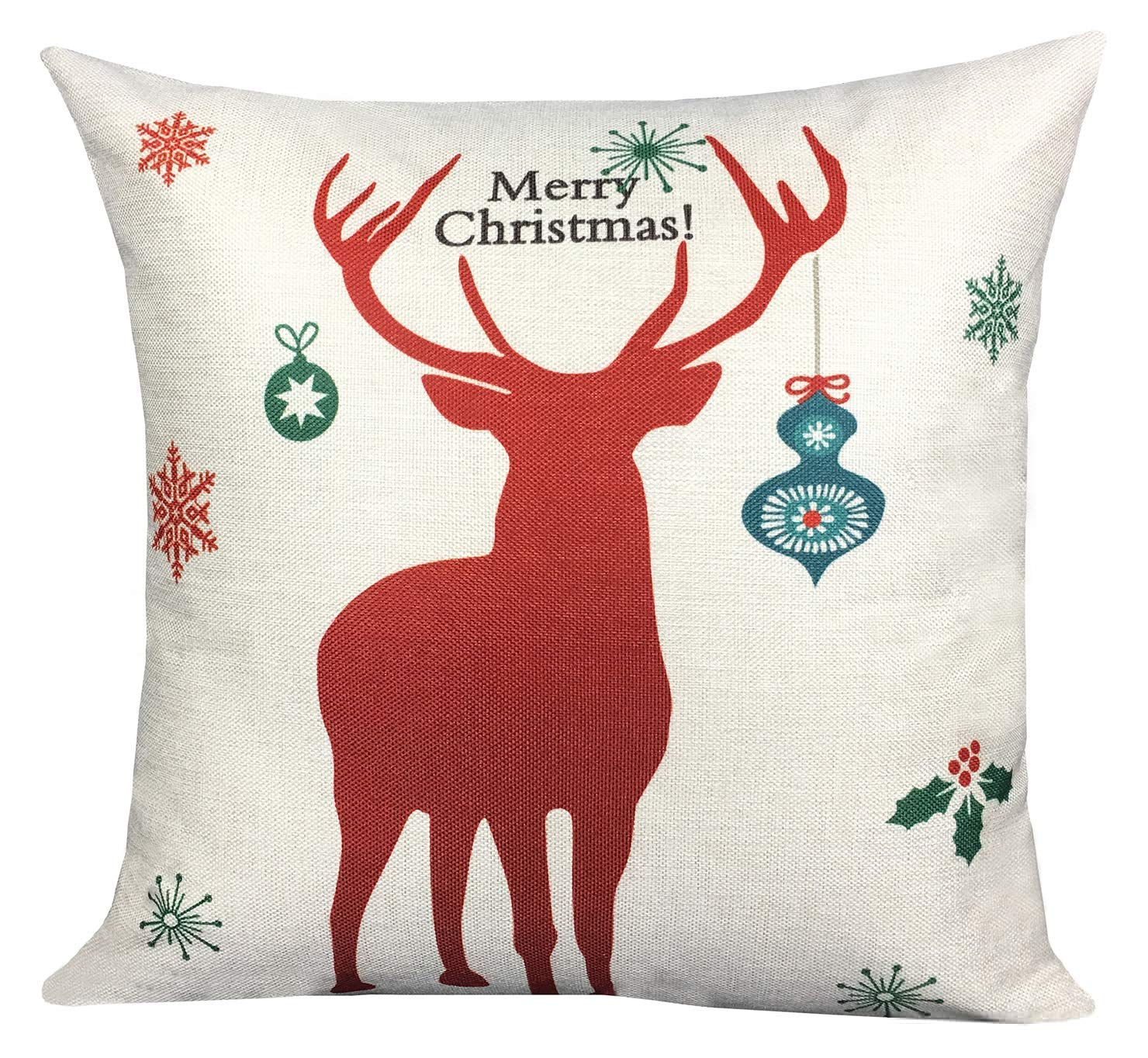 ArtKisser Christmas Pillows Covers 18 X 18 Christmas Decor Tree Pillow Covers Christmas Decorative Throw Pillow Case Sofa Home Decor