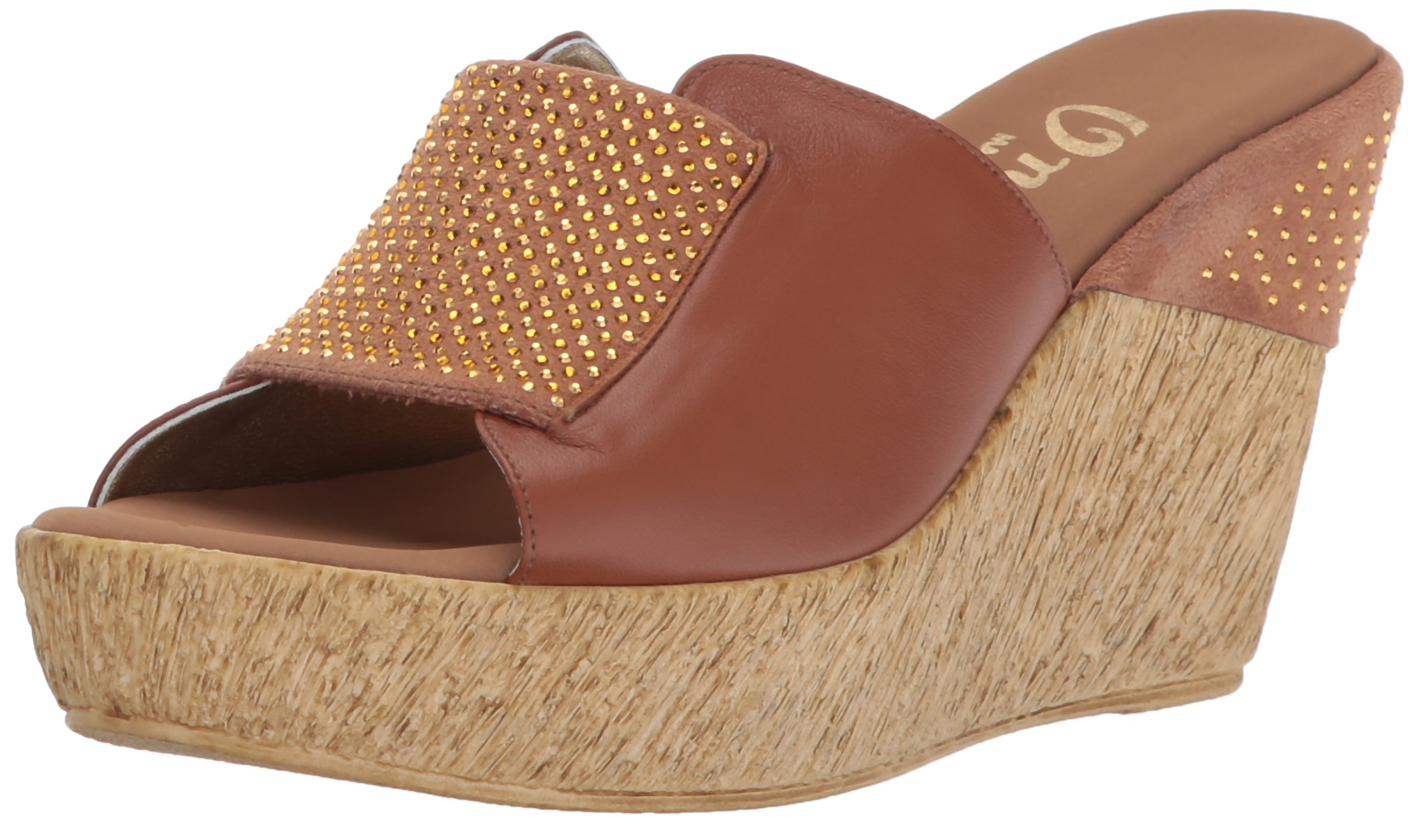 Onex Women's Meredith Wedge Sandal, Luggage, 5 M US by Onex