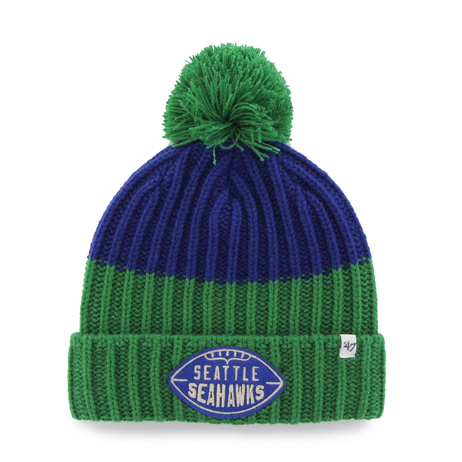5d8b4d91353 Amazon.com   NFL Seattle Seahawks Cable Knit Vintage Gridiron Founder Knit  Hat by  47   Sports   Outdoors