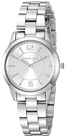 74aab9e5831b Image Unavailable. Image not available for. Color  Michael Kors Women s  Runway Analog-Quartz Watch with Stainless-Steel Strap
