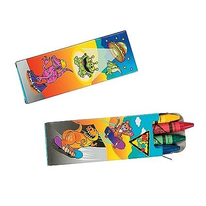 Amazon.com: Kids regla 4 Count Crayons, Paquete de 12 cajas ...