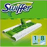 Swiffer Systemstarter (1 Bodenwischer und 8 Boden-Staubtücher) 1er Pack