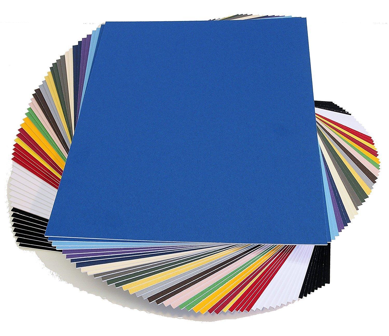 topseller100, Pack of 50 sheets 11x14 UNCUT mat matboard MIX Color
