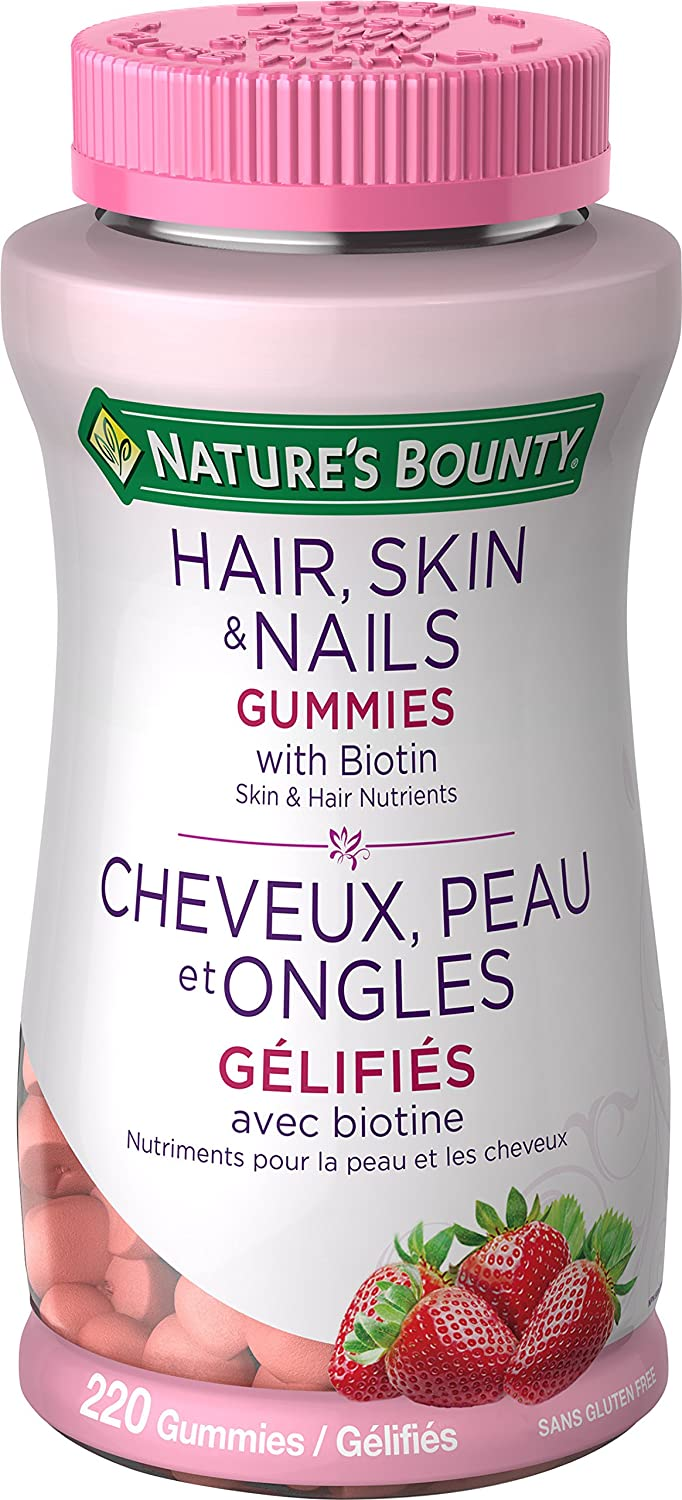 Nature's Bounty Optimal Solutions Hair, Skin and Nails Gummies - 220 Count Nature' s Bounty