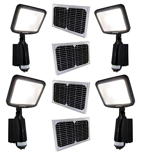 Amazon.com: Pack de 4 Solar Powered microgrid más brillantes ...