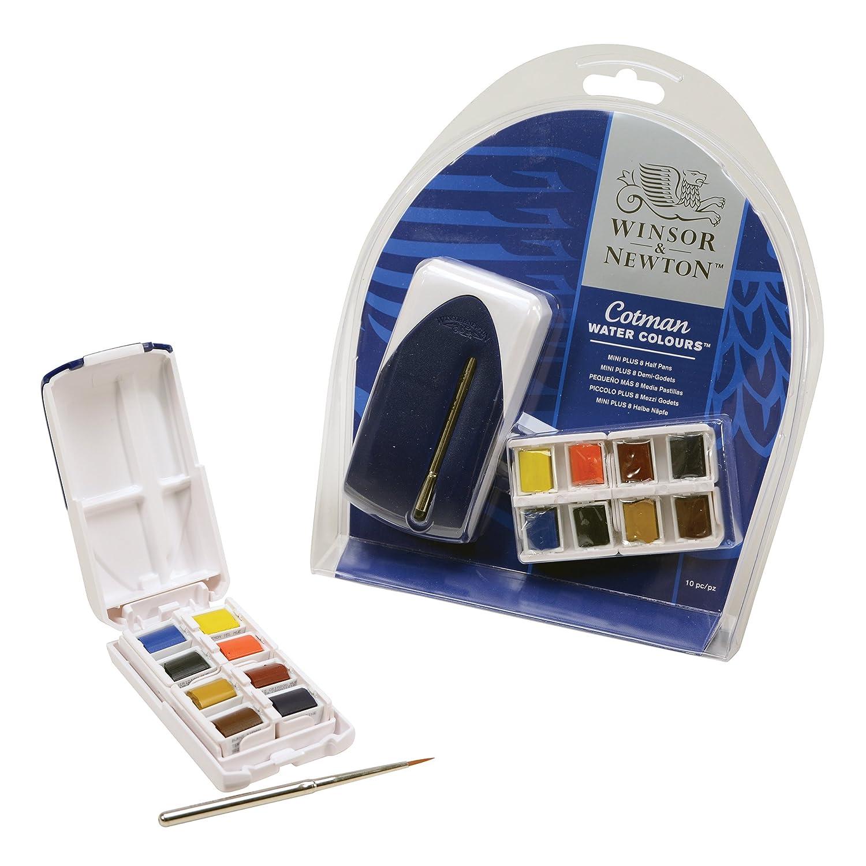Winsor Newton Cotman Water Colour Paint Mini Plus Set Of 8 Half Pans