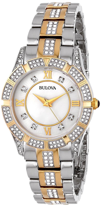 Bulova Women s 30mm Dress Two-Tone Crystal Watch