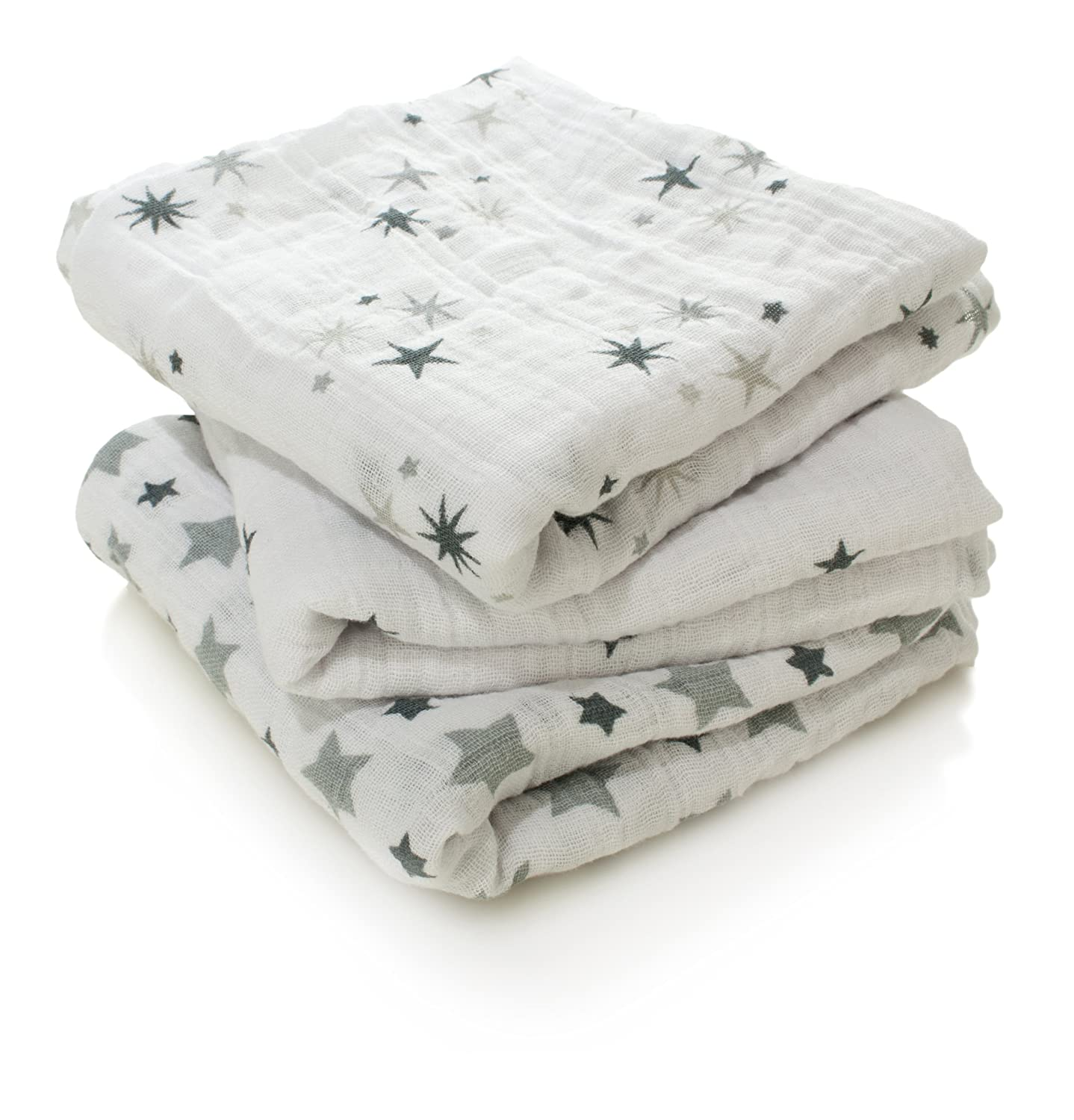 anais musy squares rock star aden 100/% cotton muslin 70cm X 70cm 3 pack