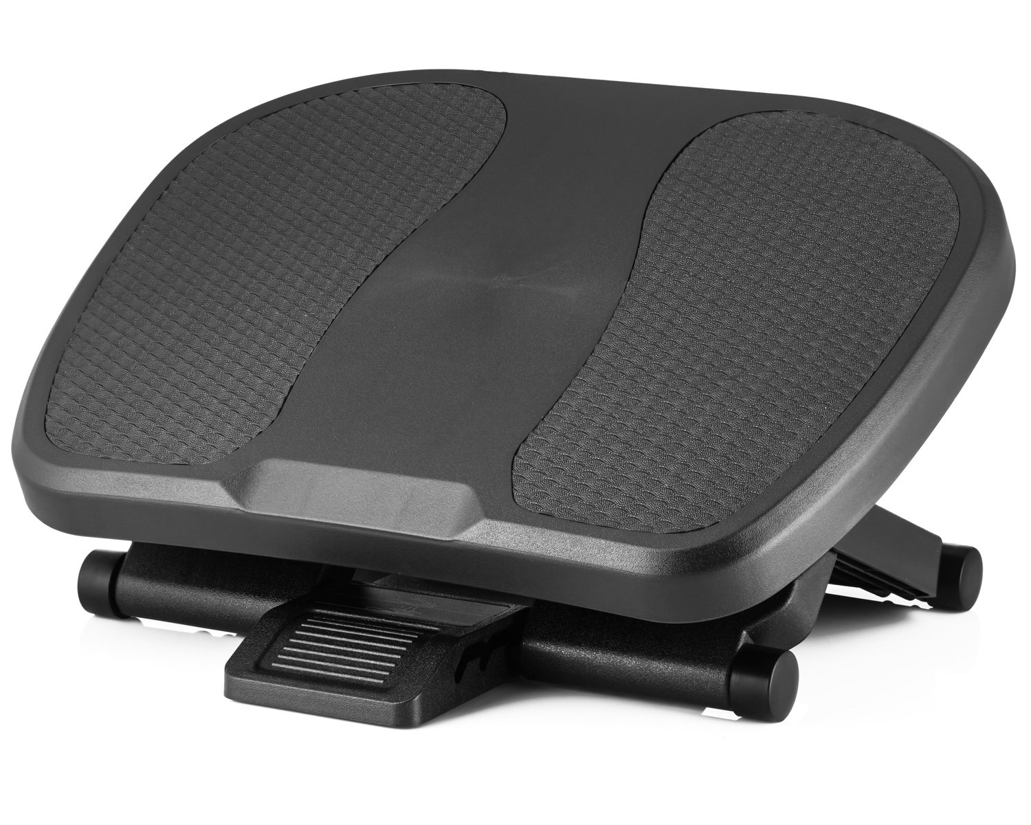 Halter F8012 Premium Ergonomic Foot Rest - 17.7'' X 13'' - Adjustable Angle & 3 Different Height Positions - Black