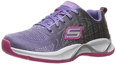 4d969d32a67 Skechers Girl's Hi Glitz-Flutterspark Purple and Black/Hot Pink Sports Shoes  - 1