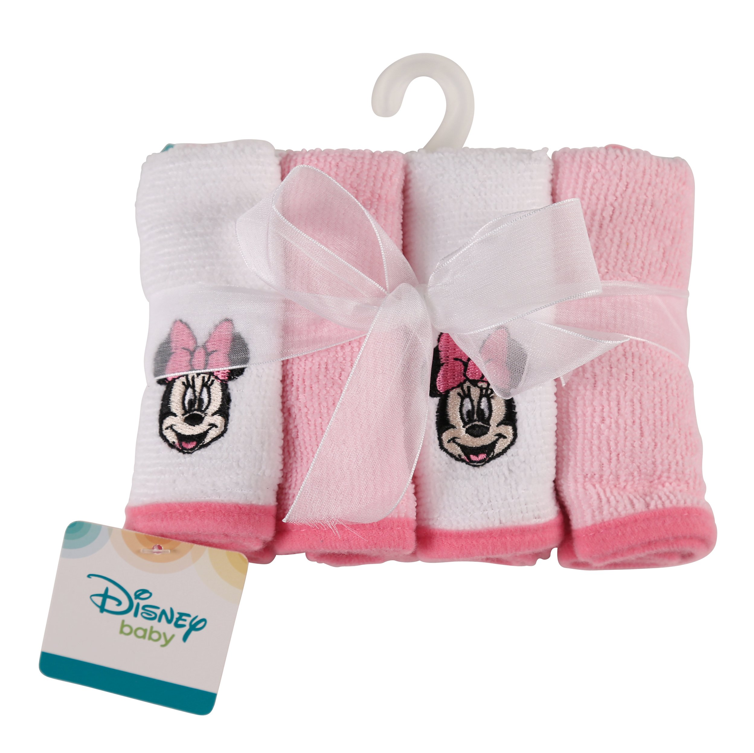 Disney Minnie Mouse Washcloth Set, Pink