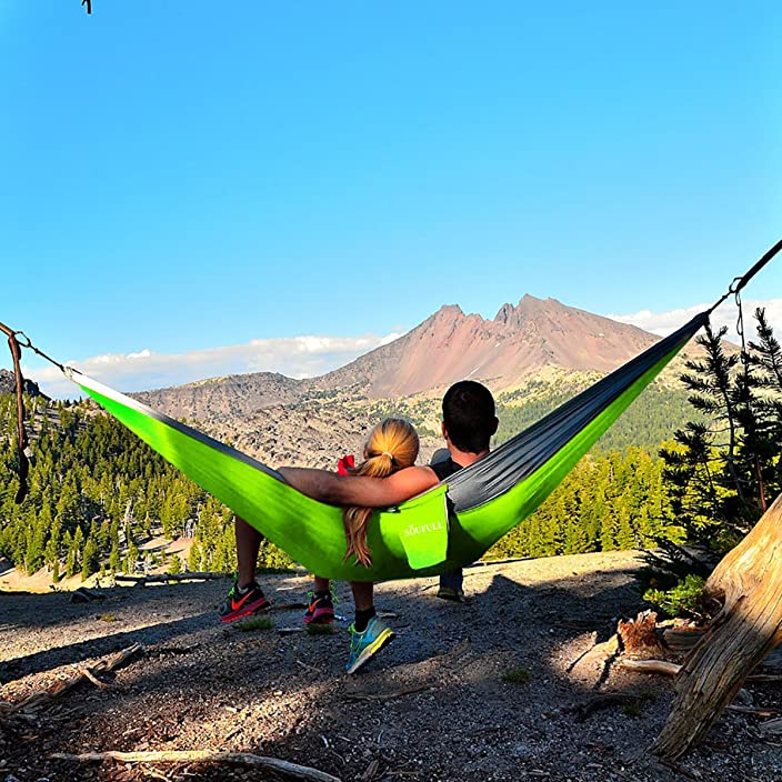 Multifunctional Camping Hammock with Ropes and Carabiners