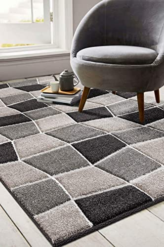 Ibiza Collection Geometric Blocks Abstract Area Rug, 7 10 x 10 2 , 2810-Beige Brown