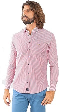Spagnolo Basica Pop 0068 Camisa Casual, Rojo (Raya Rojo/Blanco 000355), Medium (Tamaño del Fabricante:03) para Hombre: Amazon.es: Ropa y accesorios