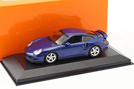 "Minichamps 940069301"" 1999 Porsche 911 Turbo 996"" Die-Cast Model, Metallic Blue"