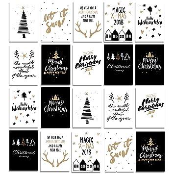 Stylische Weihnachtskarten.Postkarten Weihnachtskarten Weihnachten Schöne Grüße Zum Fest 20 Modelle 10 Designs