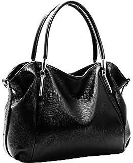 Amazon.com: Heshe Women's Leather Shoulder Handbags Tote Top ...