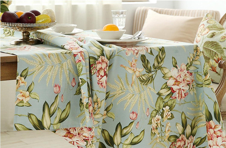 Formal Tablecloth Vintage Champagne Linen Tablecloth w White Flower Center Band 46\u201d x 52\u201d 121 Table Linens No