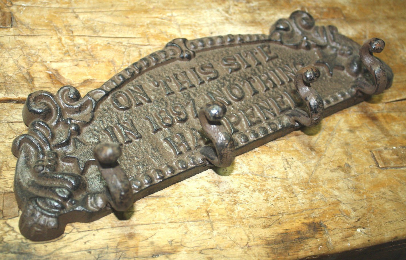 Amazon.com: Cast Iron On This Site In 1897 Nothing Happened Coat Hat ...