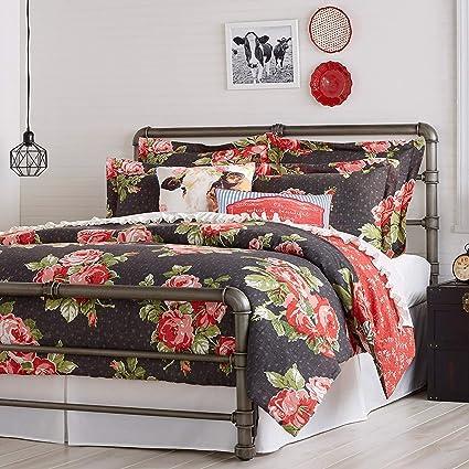 . Amazon com  The Pioneer Woman Bedding Comforter Set Rose Garden Size