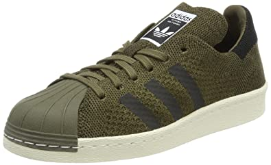 36796d378587 adidas Unisex Adults  Superstar 80s Primeknit Low-Top Sneakers ...