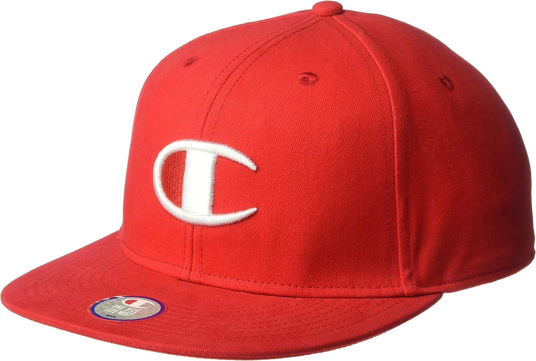 Champion LIFE Mens Baseball Snapback Hat with Big C Logo