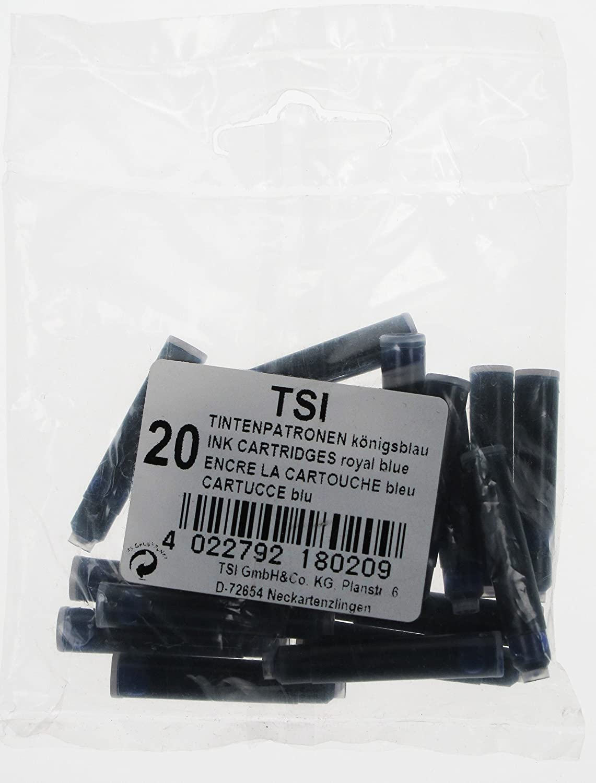 TSI 18020Ink Cartridges Pack of 20, Royal Blue