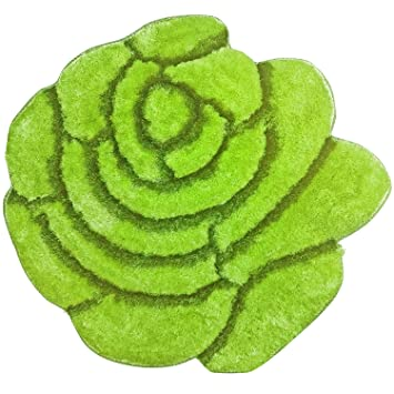 Green Flower Rug Home Decor