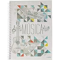 Caderno Musica Universitário, Credeal 2-0418-4, Multicor, 50 Folhas, Pacote de 5