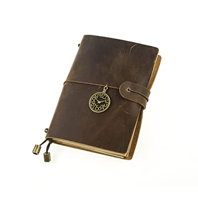 UNIQUE HM&LN Genuine Leather Journal Notebook Travelers, Refillable, Handmade Vintage, Fountain Pen Users, Perfect for Writing, Personalized Gift